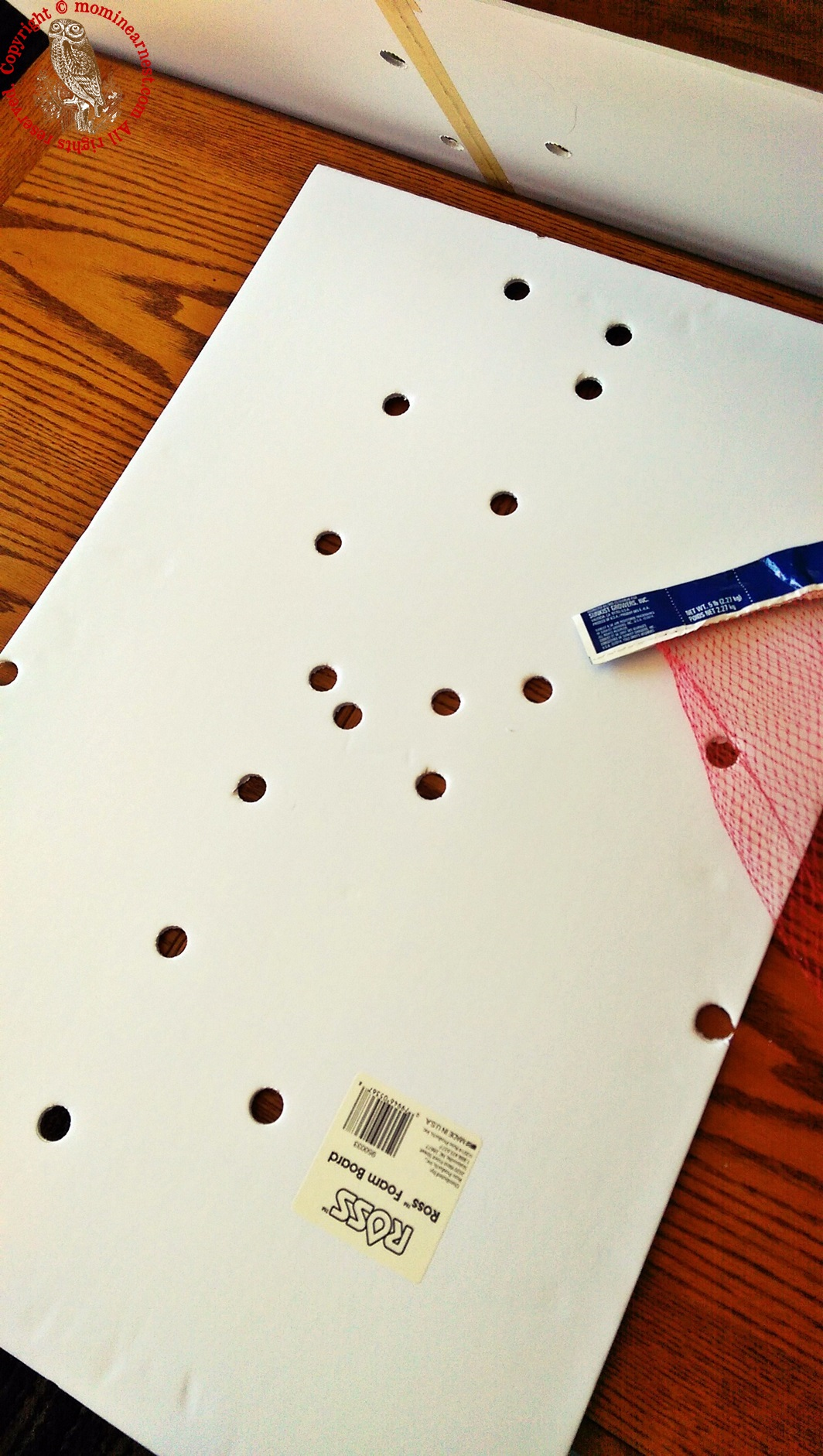 repeat pattern of holes on separate board (optional)