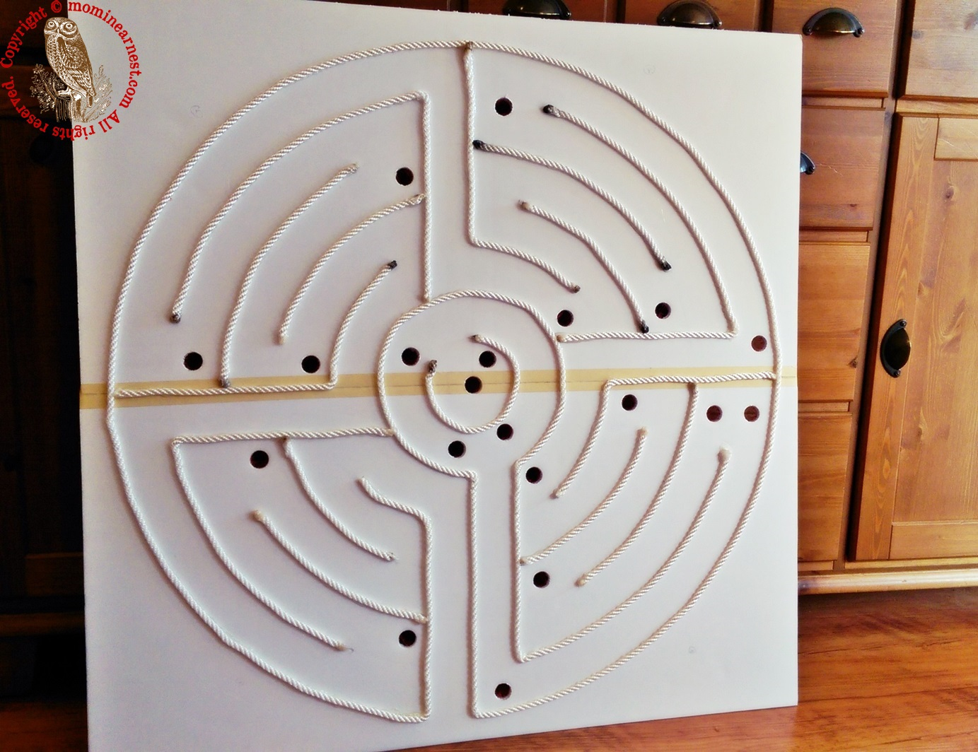 How to Make a Labyrinth Using Foam Boards