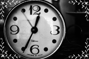 Routine versus Schedule: an old alarm clock.